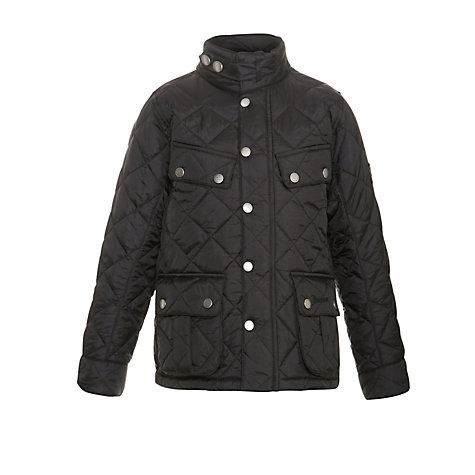 Buy Barbour Children's Ariel Coat, Black Online at johnlewis.com