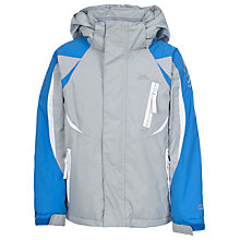 Buy Trespass Boys' Hollywood Waterproof Coat, Grey/Blue Online at johnlewis.com
