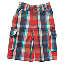 Buy Frugi Boys' Check Shorts, Red/Blue Online at johnlewis.com