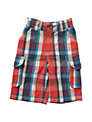 Frugi Boys' Check Shorts, Red/Blue