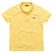 Buy Gant Boys' Solid Pique Polo Shirt Online at johnlewis.com