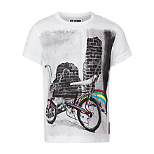 Buy Ben Sherman Boys' Graphic Print Bike T-Shirt, White Online at johnlewis.com