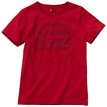 Buy Levi's Boys' Harvey T-Shirt, Red Online at johnlewis.com