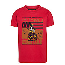 Buy Barbour International Boys' Tierra T-Shirt, Red Online at johnlewis.com