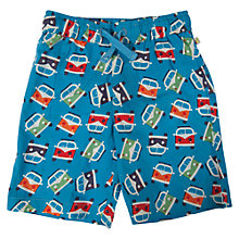 Buy Frugi Boys' Campervan Print Swim Shorts, Blue/Multi Online at johnlewis.com