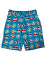 Frugi Boys' Campervan Print Swim Shorts, Blue/Multi