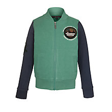 Buy Barbour International Boys' Baseball Jacket, Green Online at johnlewis.com