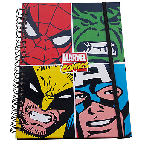 Buy Marvel Comics Character A5 Notebook, Multi Online at johnlewis.com