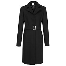 Buy Reiss Tropez Fitted Coat, Black Online at johnlewis.com