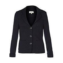 Buy Hobbs Hayden Quilted Jacket, Navy Online at johnlewis.com