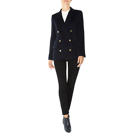 Buy Hobbs Parisa Jacket, Dark Navy Online at johnlewis.com