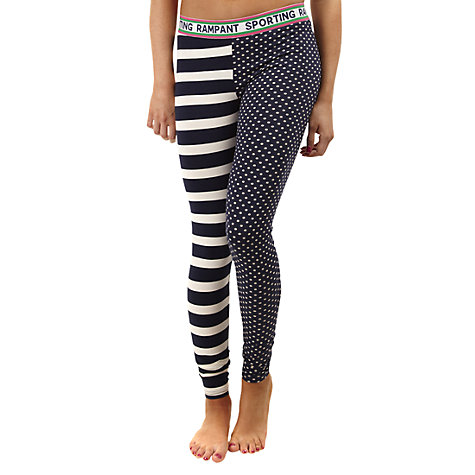 Buy Rampant Sporting Print Leggings, Navy / Multi Online at johnlewis.com