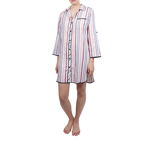Buy Cyberjammies Poppy Stripe Nightdress, Multi Online at johnlewis.com