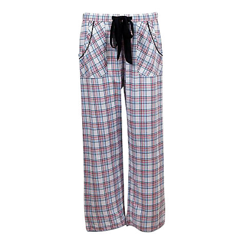 Buy Cyberjammies Poppy Check Pyjama Pants, Red / Blue Online at johnlewis.com