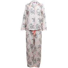 Buy Cyberjammies Joyce Floral Print Pyjama Set, Grey / Peach Online at johnlewis.com