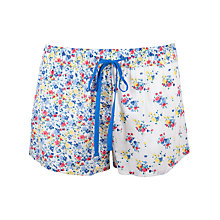 Buy Cyberjammies Rebecca Print Shorts, White/ Blue Online at johnlewis.com