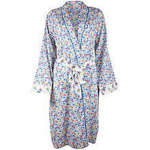 Buy Cyberjammies Rebecca Print Wrapped Robe, White / Blue, Online at johnlewis.com