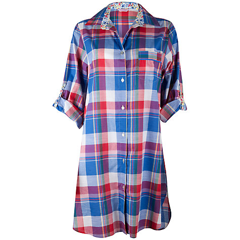 Buy Cyberjammies Rebecca Check Nightshirt, Multi Online at johnlewis.com
