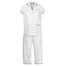 Buy John Lewis Summer Brights Dobby Spot Pyjama Set, Pink / Aqua Online at johnlewis.com