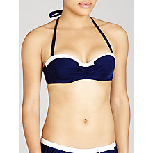 Buy John Lewis Sailor Underwired Bikini Top, Blue / White Online at johnlewis.com