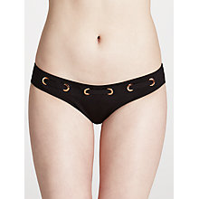 Buy John Lewis Eyelet Belt Detail Bikini Briefs, Black Online at johnlewis.com
