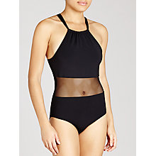 Buy John Lewis Mesh Swimsuit, Black Online at johnlewis.com