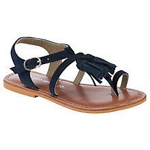 Buy John Lewis Girl Offra Tassel Leather Sandals, Navy Online at johnlewis.com