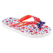 Buy John Lewis Girl Butterfly Flip Flops, Red/Blue Online at johnlewis.com