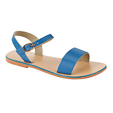 Buy Kin by John Lewis Leather Sandals, Blue/Sand Online at johnlewis.com