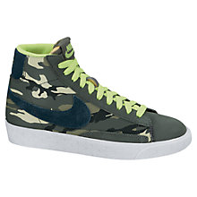Buy Nike Blazer Mid Vintage Trainer, Green/Camouflage Online at johnlewis.com