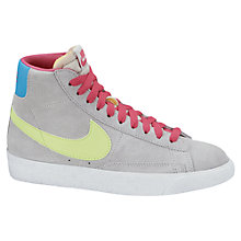 Buy Nike Blazer Mid Vintage Trainers, Grey/Multi Online at johnlewis.com
