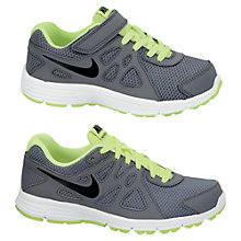 Buy Nike Revolution 2 Running Trainers, Grey/Green Online at johnlewis.com