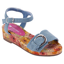 Buy John Lewis Girl Opaline Wedges, Denim Online at johnlewis.com