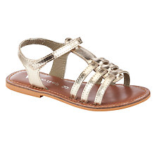 Buy John Lewis Oriana Metallic Sandals, Gold/Tan Online at johnlewis.com