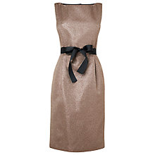Buy L.K. Bennett Cerys Fitted Dress, Gold Online at johnlewis.com