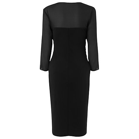 Buy L.K. Bennett Anis Sheer Sleeve Dress, Black Online at johnlewis.com