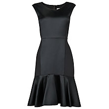 Buy L.K. Bennett Melba Fabric Mix Dress, Black Online at johnlewis.com