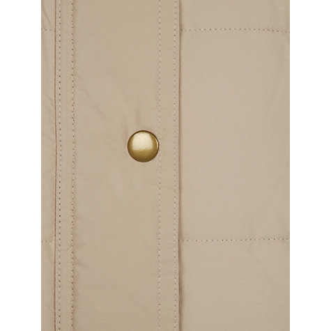 Buy Hobbs Isla Padded Coat, Vintage Cream Online at johnlewis.com