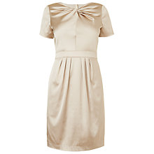Buy L.K. Bennett Lilibet Sateen Dress, Putty Online at johnlewis.com