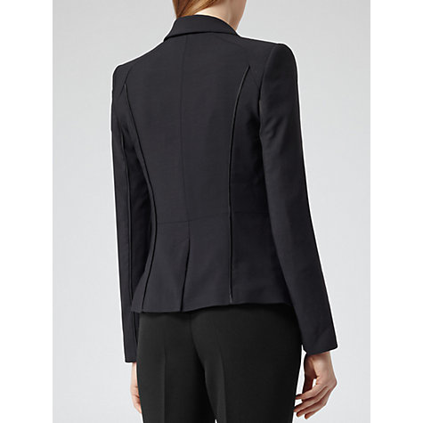 Buy Reiss Kingley Satin Trim Blazer, Dark Navy Online at johnlewis.com