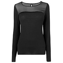 Buy L.K. Bennett Una Knitted Top, Black Online at johnlewis.com