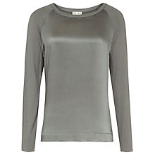 Buy Reiss Lily Silk Front Long Sleeve Top Online at johnlewis.com