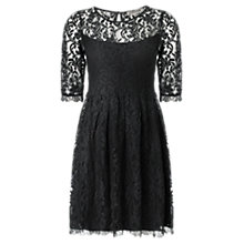 Buy Jigsaw Cara Lace Dress, Black Online at johnlewis.com