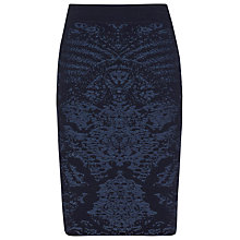 Buy Reiss Babin Knitted Jacquard Skirt, Navy Online at johnlewis.com
