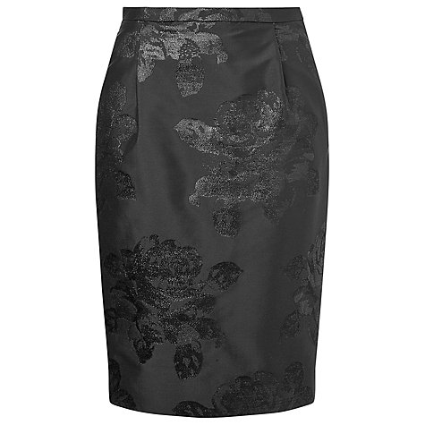 Buy L.K. Bennett Lichen Floral Skirt, Black Online at johnlewis.com