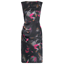 Buy L.K. Bennett Eldora Silk Printed Dress, Fuchsia Online at johnlewis.com