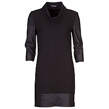 Buy Betty Barclay Faux Leather Sleeve Dress, Black Online at johnlewis.com
