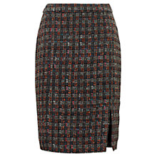 Buy Jigsaw Amber Tweed Side Split Skirt, Orange Online at johnlewis.com