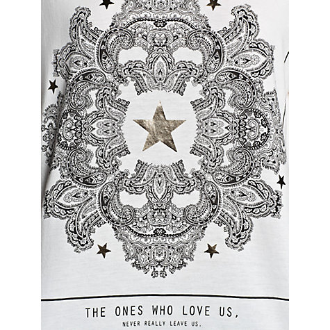 Buy Mango Scarf Print T-Shirt, White Online at johnlewis.com