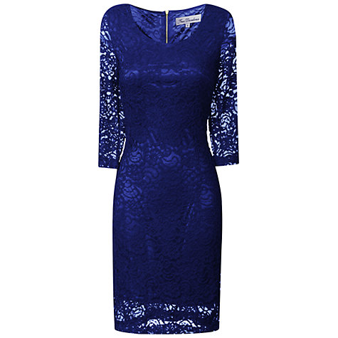 Buy True Decadence Lace Layer Dress, Electric Blue Online at johnlewis.com